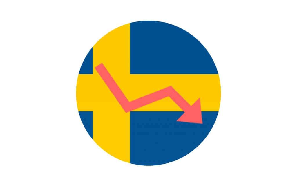 Swedish online gambling revenue down
