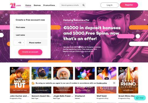 21.com desktop screenshot