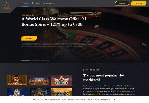 21 Casino desktop screenshot