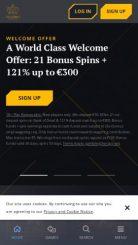 21 Casino mobile screenshot