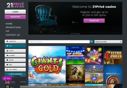 21Prive desktop screenshot