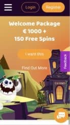 Boo Casino mobile screenshot