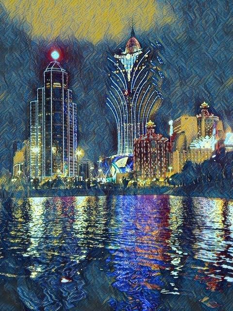 Casino Lisboa Macao at night