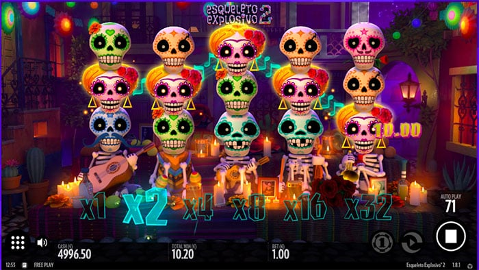Esqueleto Explosivo 2 slot win