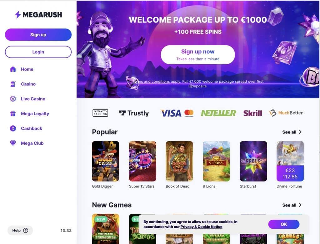 MegaRush desktop screenshot