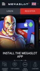 Megaslot mobile screenshot