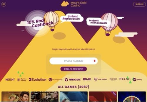 Mount Gold desktop screenshot