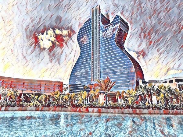 Guitar shaped Hard Rock Casino and Hotel Tampa USA