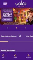 Yako Casino mobile screenshot
