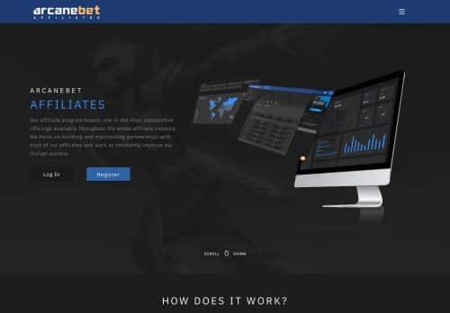 arcanebet affiliates  desktop screenshot