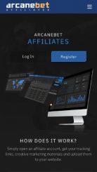 arcanebet affiliates  mobile screenshot