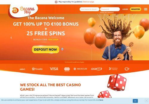 BacanaPlay desktop screenshot
