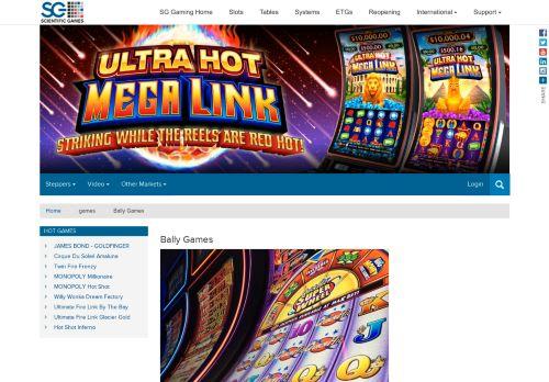 Bally Technologies desktop screenshot