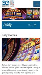 Bally Technologies mobile screenshot