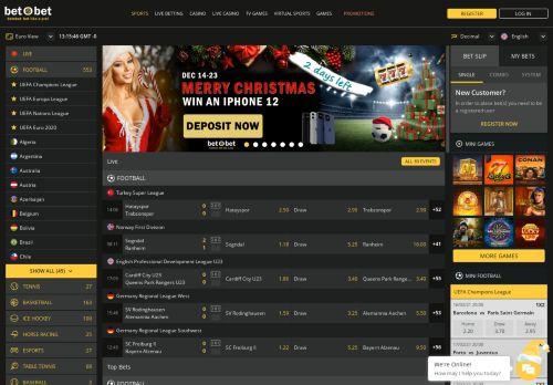 betObet desktop screenshot