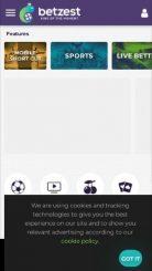 Betzest mobile screenshot