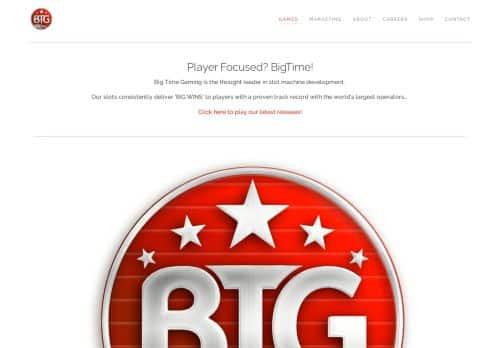 Big Time Gaming desktop screenshot