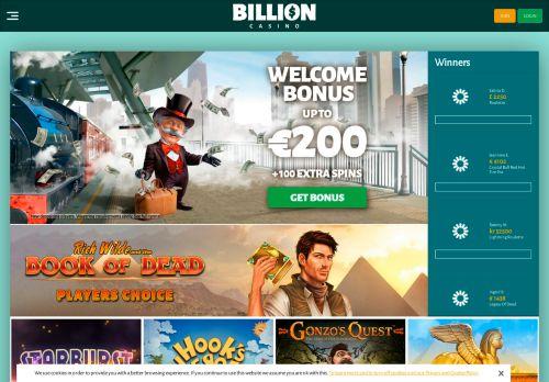 Billion desktop screenshot