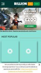 Billion mobile screenshot