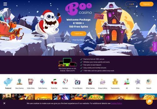 Boo Casino desktop screenshot
