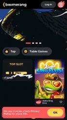 Boomerang mobile screenshot