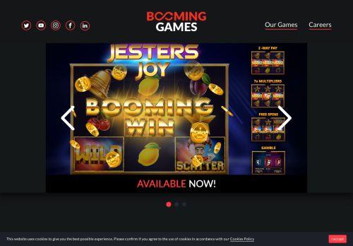 Booming Games desktop screenshot
