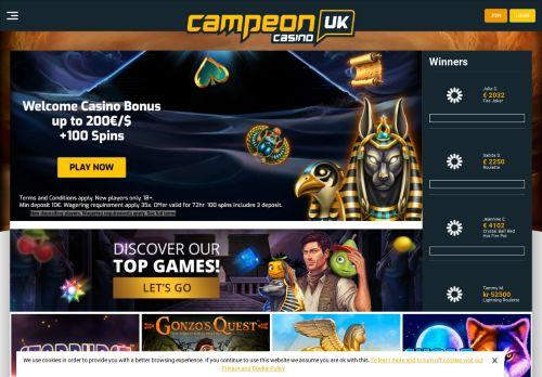 CampeonUK desktop screenshot