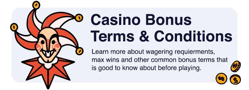 casino bonus terms and conditions