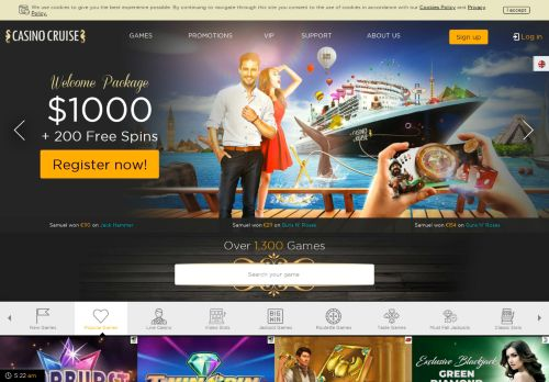 Casino Cruise desktop screenshot