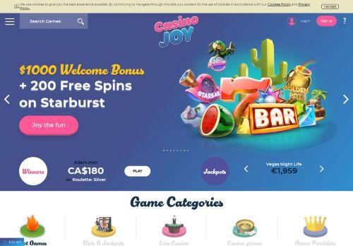 Casino Joy desktop screenshot
