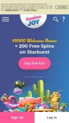Casino Joy mobile screenshot