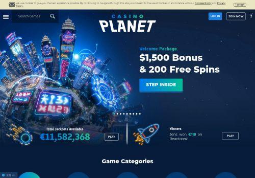 Casino Planet desktop screenshot