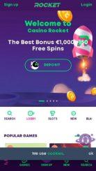 Casino Rocket mobile screenshot