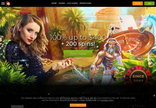 Casino.com desktop screenshot