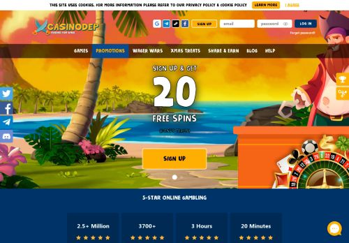 Casinodep desktop screenshot