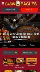 CasinoEagles mobile screenshot