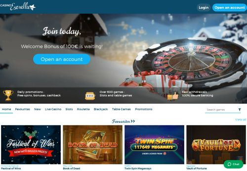 Casino Estrella desktop screenshot
