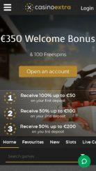 Casino Extra mobile screenshot