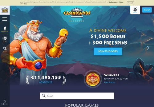 Casino Gods desktop screenshot