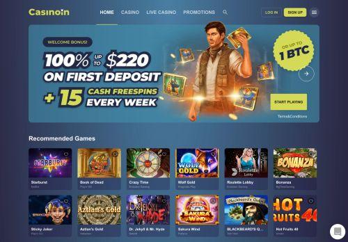 Casinoin desktop screenshot