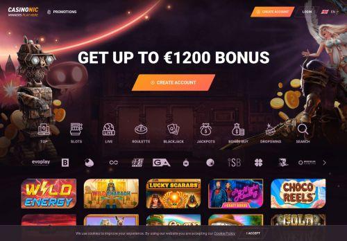 Casinonic desktop screenshot