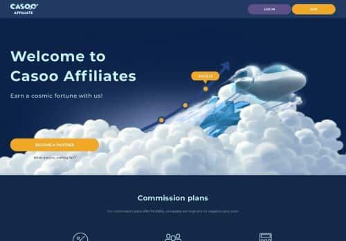 Casoo Affiliates desktop screenshot