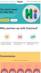 Casumo Affiliates mobile screenshot