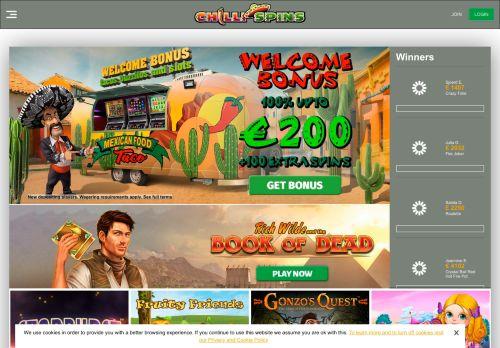 Chilli Spins desktop screenshot