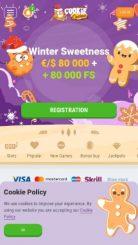 Cookie Casino mobile screenshot