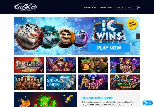 Cool Cat Casino desktop screenshot
