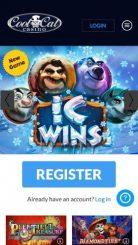 Cool Cat Casino mobile screenshot