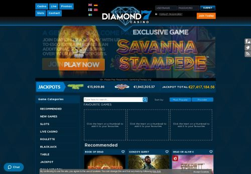 Diamond7 desktop screenshot