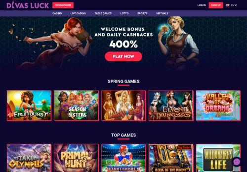 Divas Luck desktop screenshot