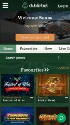 DublinBet mobile screenshot